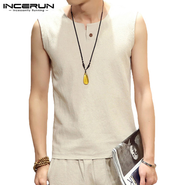 Chinese Solid Mens Vest...