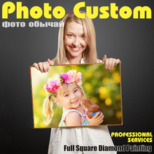 Huacan Foto Custom Diamond Lukisan Cross Stitch Penuh Gambar Persegi dari Berlian Imitasi DIY Mosaik Diamond Diamond Bordir Dijual(China)