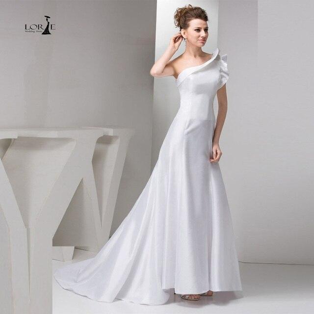 lorie mancha de un solo hombro barato vestidos de novia 2017 vestido