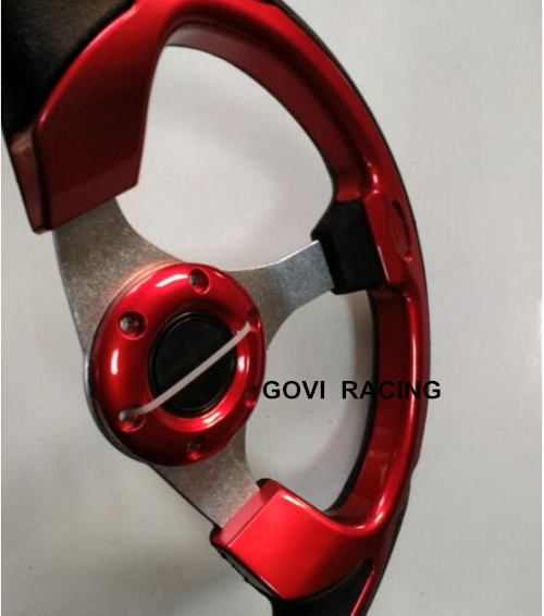13 320mm red steering wheel with pu and aluminum bracket universal for car racing steering-wheel 93490-2p170 car styling