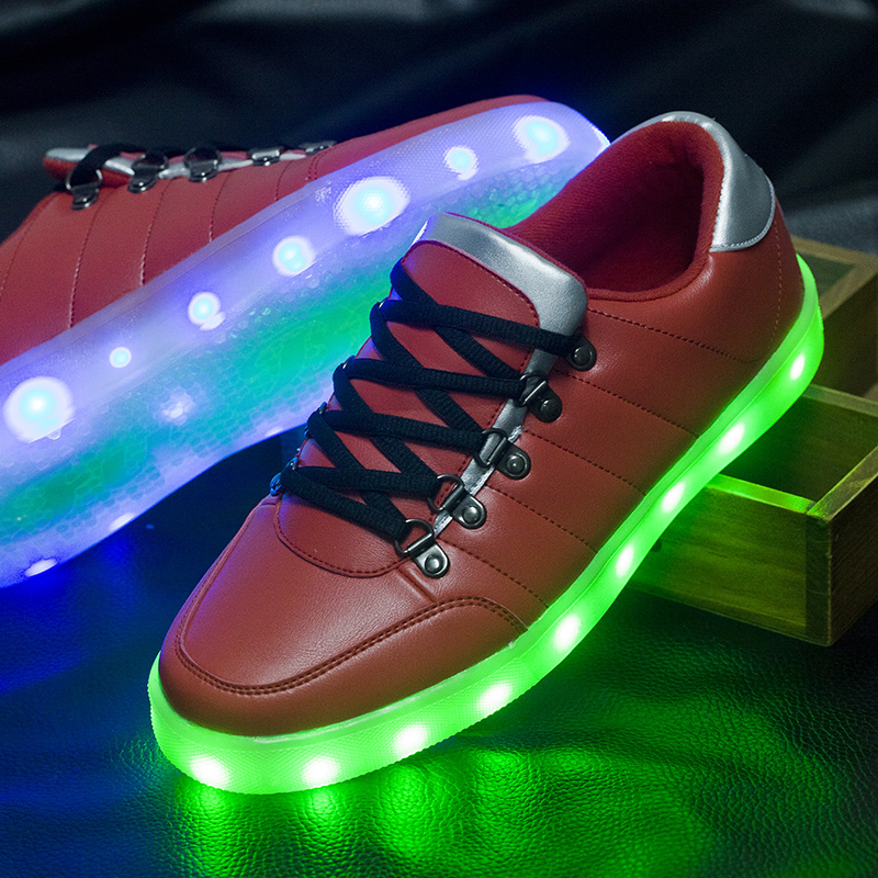 New 2016 Fashion Light Up Shoes High Quliaty Luminous Led Shoes Men For Adults Comfortable Lace