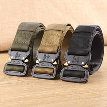 56ff25c99a New Fashion Hot Artes Tático Heavy Duty Belt Cobra Cinto de Nylon Fivela De  Metal Cintura