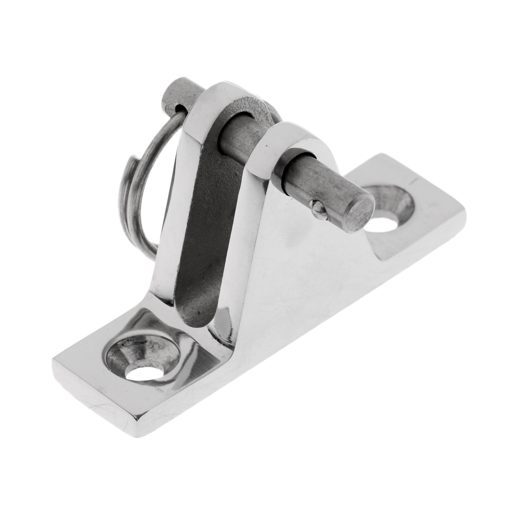 Image 3 - 1 Pcs 316 Stainless Bimini Boat Top Deck Hinge Fitting & Screws Quick Release Pin-in Marine Hardware from Automobiles & Motorcycles