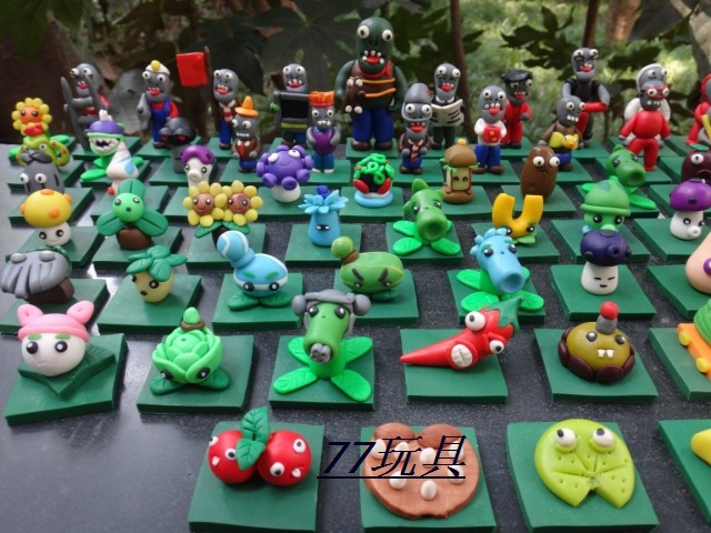 67PCS/Lot  Free Shipping Plants vs Zombies pvc action figures PVZ dolls toys action figure pokemon