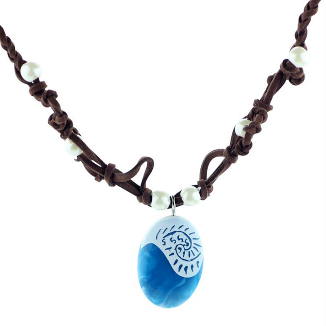 Hot moana ocean romance rope chain necklaces blue stone necklaces hot moana ocean romance rope chain necklaces blue stone necklaces pendants choker necklace for women aloadofball Image collections