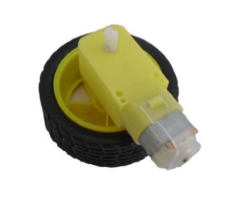 Free shiping  4pics package Deceleration DC motor supporting wheels a smart car chassis motor robot