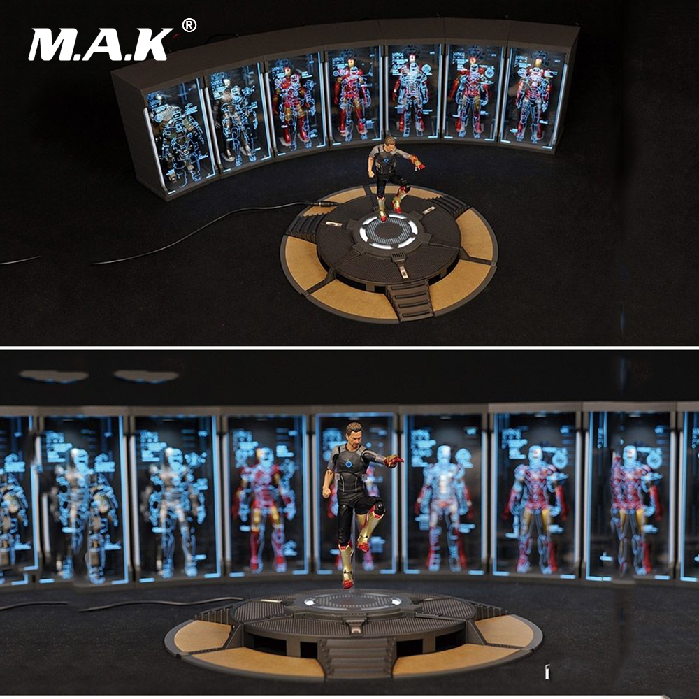 TOYS BOX Iron Man Tony Stark 1//12 Scale Comicave SHF Round Text Work Stand 6in.