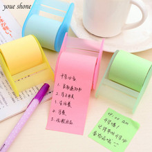 1Pcs/lot Korean Stationery Convenience Stickers Creative Cute Notes Will Be Free To Stick The Tape Seat Can Practical