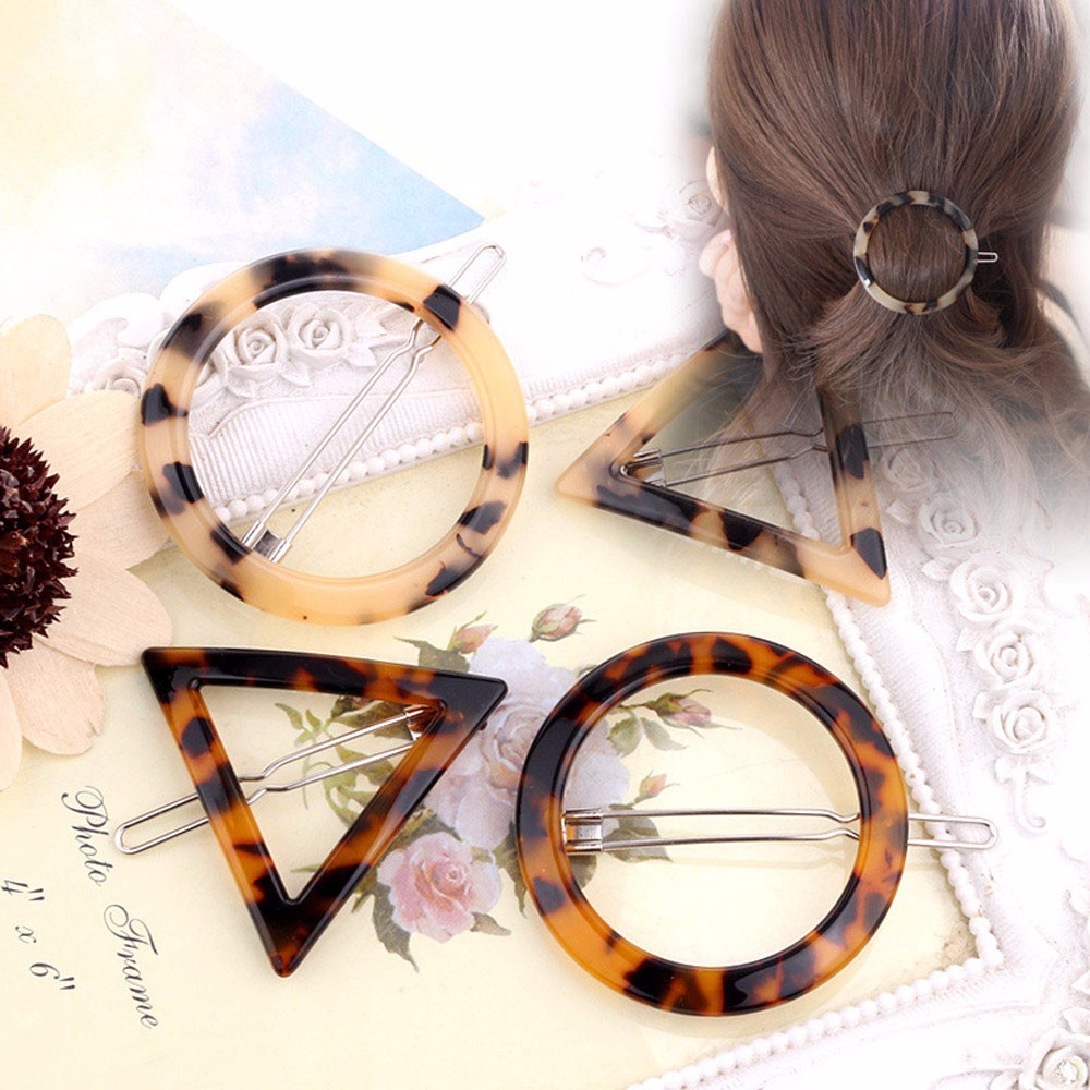 2019 New Geometric Ink Leopard Hairpin Hair Clips Hair Accessories X3.21