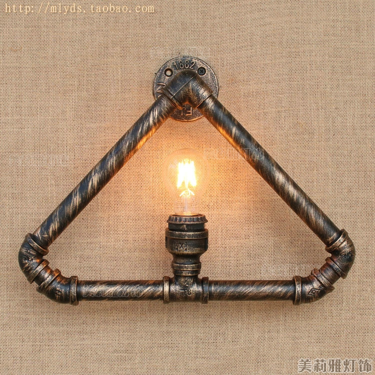 Nordic Rustic Water Pipe Lamp Vintage Retro Wall Light Fixtures Loft Style Industrial Edison Wall Sconces Appliques Murale LED glass american retro vintage wall lamp bedroom aisle style loft industrial wall lights fixtures rustic sconces aplik lamba