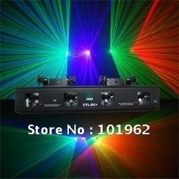 260mW 3 color RGV 4 lens dj stage lighting DMX sound laser show system
