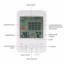 Buy online touchscreem household Thermometer Digital display Hygrometer thermometer indoor outdoor