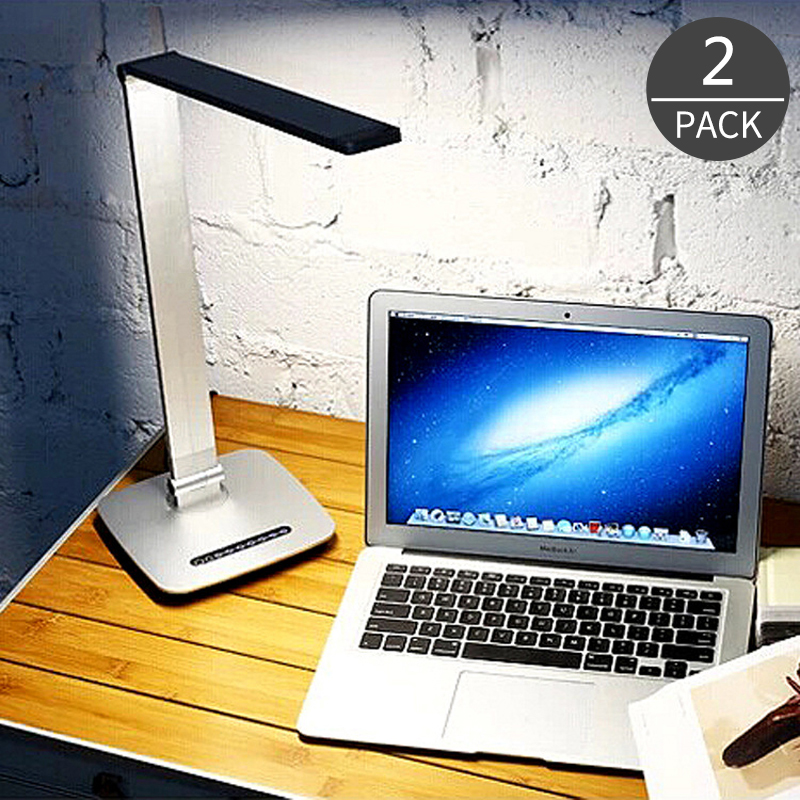 2017 Smart Metal Business Study LED Table Lamp Desk Light Touch Dimmer Reading Eyesight Protection for Study Dormitory 2Pack creative fashion led touch small lamp dc plug eye study with college students dormitory dormitory goggle led book