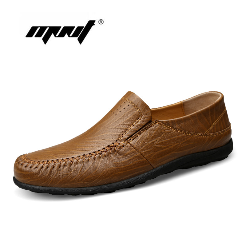 Fashion Nature Leather Men Casual Shoes Light Breathable Flats Shoes Slip-On Walking Driving Loafers zapatos hombre fashion nature leather men casual shoes light breathable flats shoes slip on walking driving loafers zapatos hombre