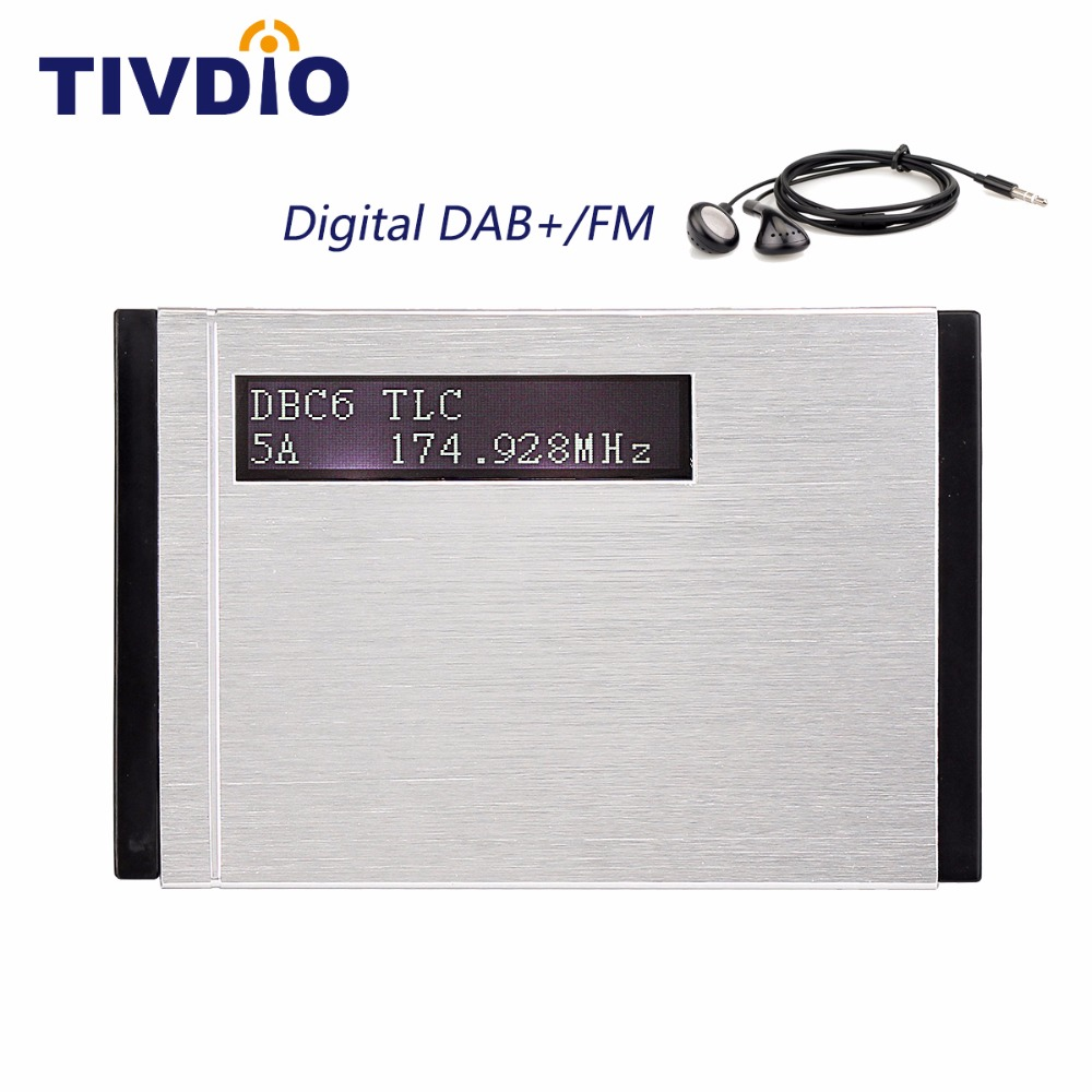 TIVDIO T-101 Portable DAB+/DAB Radio Receiver+FM RDS Radio Pocket Digital DAB Receiver with Earphone F9204 gtmedia dr 103b dab bluetooth receiver portable digital dab fm stereo radio receptor with 2 4 inch tft color display alarm clock