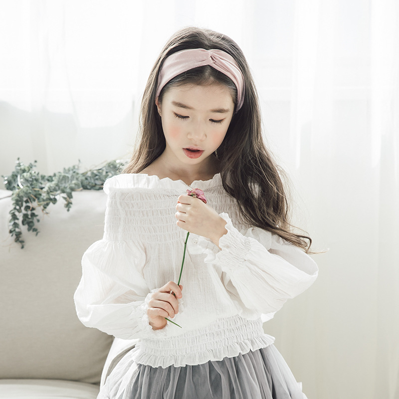 2018 Spring Vestido Curto Lace Mesh Skirt For Child Girl And White Blouse Tops 2 Piece Set Tops & Spodnica Suits For 10 12 Years