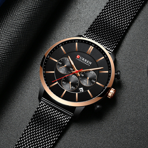 Image 2 - CURREN Luxury Brand Fashion Quartz Clock Mens Watch Causal Sport Watches Men Chronograph and Date Wristwatch with Steel Mesh