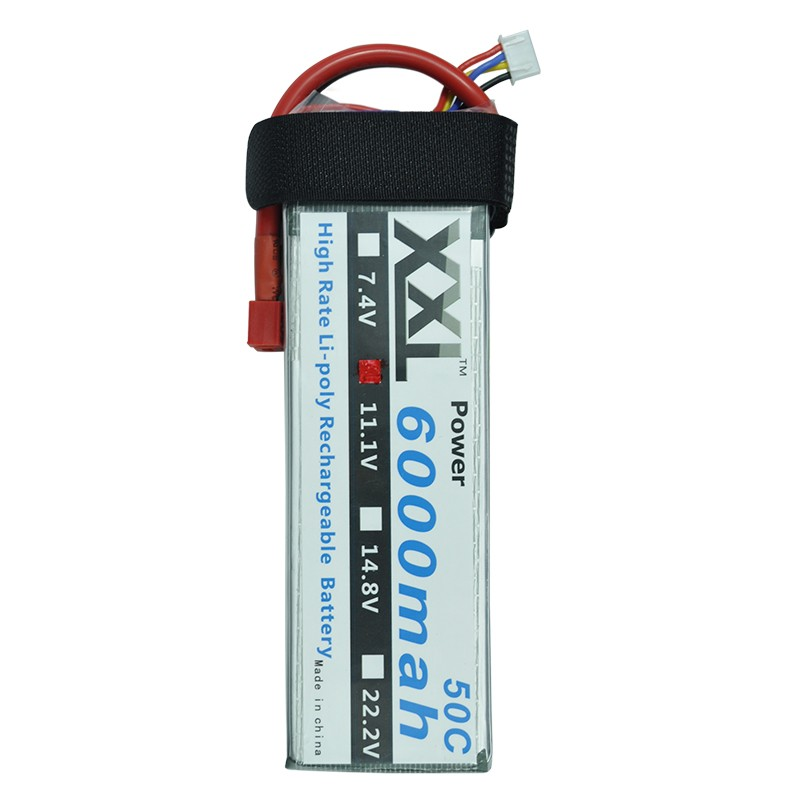 2pcs/lot XXL New 6000mAh 11.1V 3s 50C RC Rechargeable Li-Poly Battery  for Helic