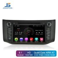 JDASTON Android 9.1 Car DVD Player For Nissan Sylphy Sentra 2012 2016 Pulsar Multimedia GPS Navigation 2 Din Car Radio Stereo