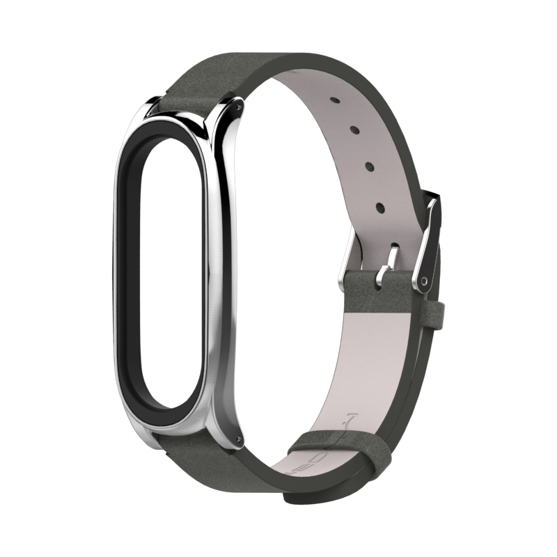 Image 5 - For Xiaomi Mi Band 3 PU Leather Strap Metal Frame for MiBand 3 Smart Bracelet PU Plus leather strap For Mi Band 3 Accessories-in Smart Accessories from Consumer Electronics