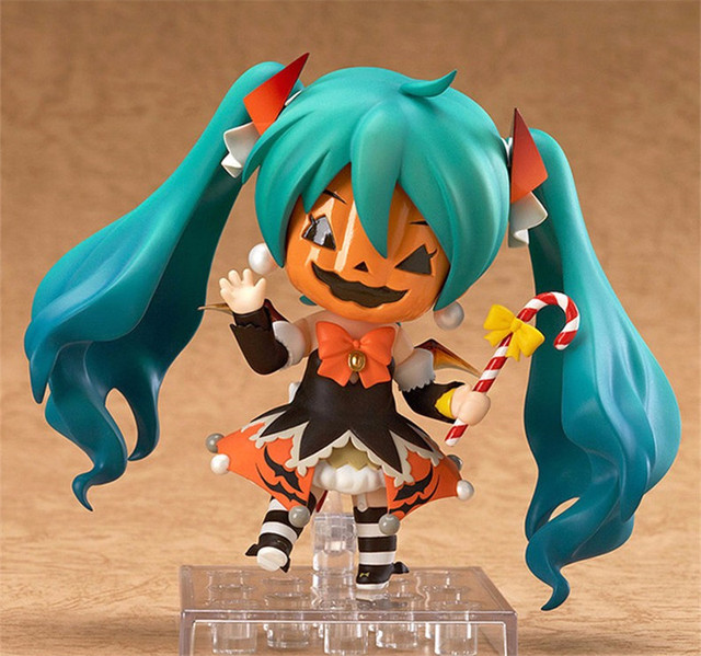 "Action 10cm Anime Nendoroid Vocaloid Hatsune Miku Halloween Ver Figure PVC 4"" Collection Hobby Model Doll Best Gift Cosplay Toy 4"