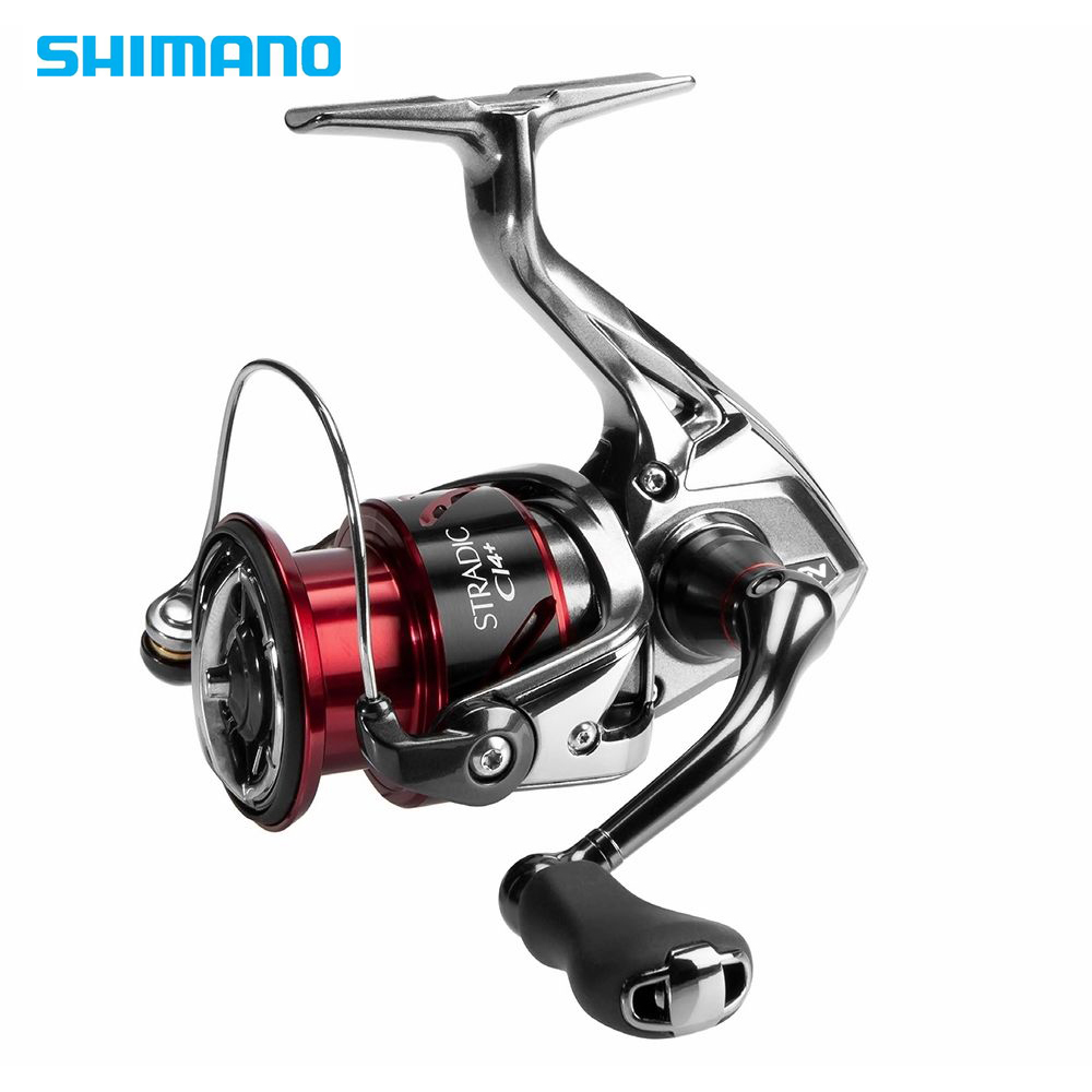 Shimano Stradic CI4 + 1000 2500 C3000 Série 4000 Spinning Reel Fishing 5.0: 1/4. 8:1 6 + 1BB X-Navio HAGANE Engrenagem Carretel De Pesca