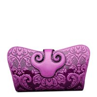 QISU Designer Floral Collection Leather Shoulder Handbags Clutch Cross Body Bags
