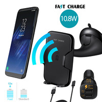 Qi Wireless Car Charger For Samsung Galaxy S8 S8 S7 EDGE NOTE5 S6 EDGE For IPhone