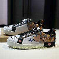 2018 обувь женщина Туфли без каблуков сезон: весна–лето кроссовки на шнуровке Повседневное уютный Туфли без каблуков дизайнерские Wi Fi граффи