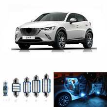 Uds libre de Error blanco Interior LED Kit de luces para Mazda cx-3 cx3 accesorios lectura luces interiores de Hielo Azul 12v