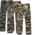 Mens Joggers Marca 2017 Pantalones Masculinos Pantalones de Algodón Elástico Camuflaje Guardapolvos Militares Pantalones Deportivos Pantalones Joggers Pantalones Casual QUE