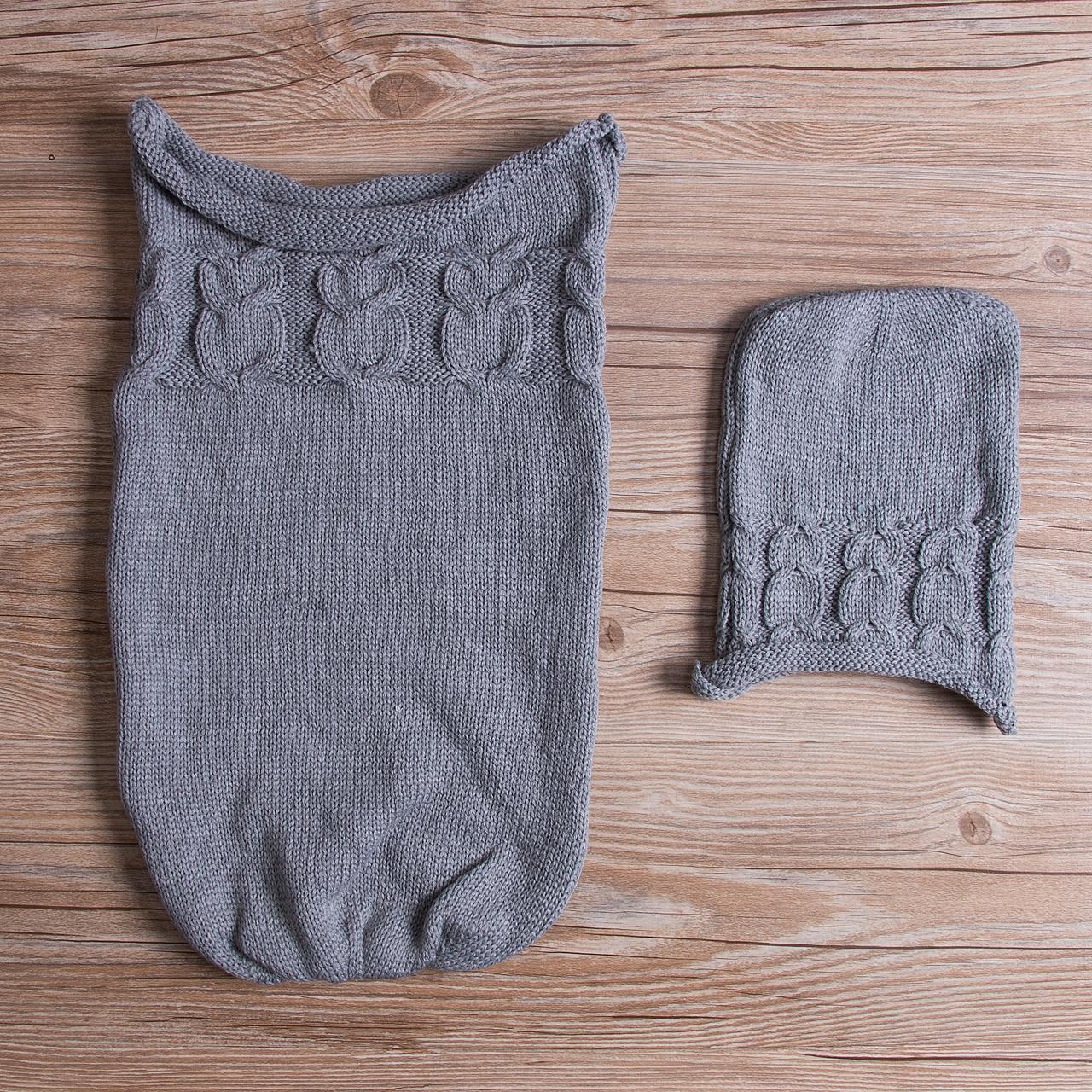 Infant Baby Newborn Sleeping Bag Swaddle Blanket Stroller Wrap Knit ...