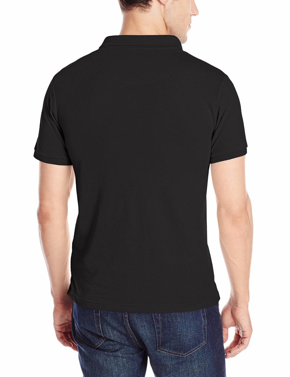 2018 Mens Polo Shirt Guns n Roses Rock Roll Print Polo Shirts Mens Shirts Camisa Polo Black White Cotton T-Shirts Top