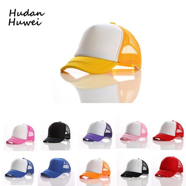 Gorra de béisbol de malla de verano para niños de 16 colores con ...