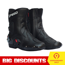 PRO-BIKER Motorcycle Boots bota motociclista Protective Gear SPEED Moto Shoes Motorcycle Riding Racing Motocross Boots BLACK
