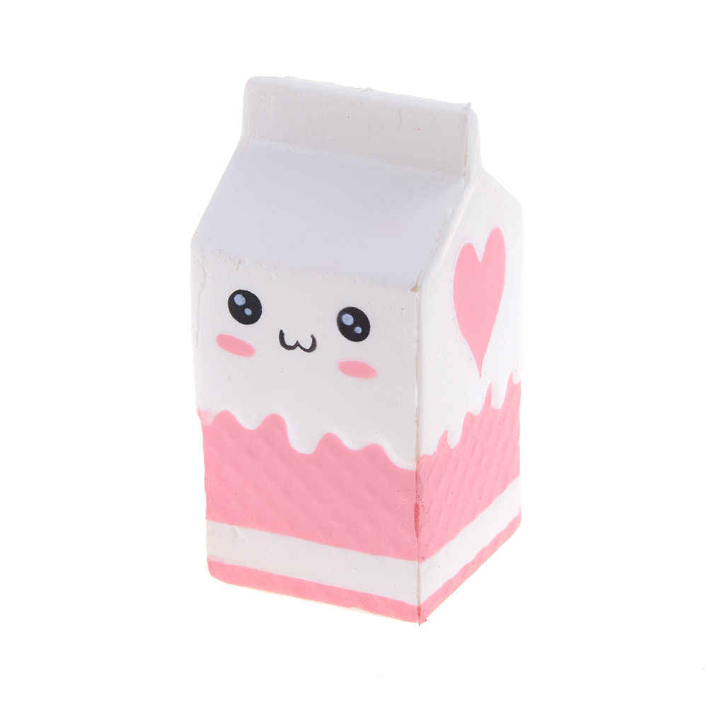 Caixa de leite panda jumbo mini sorvete pão simular pingente batatas fritas estiramento crianças presente brinquedo pipoca mole lento subindo