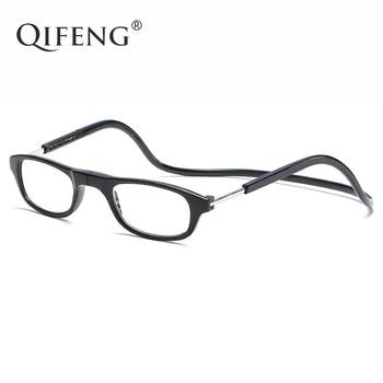 87d270d384 Gafas de lectura magnéticas QIFENG hombres mujeres Diopter presbiópico  hombre Unisex grados gafas + 1,