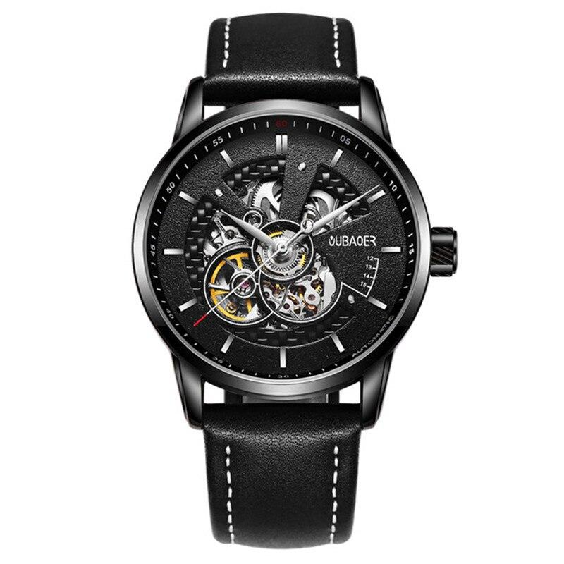 dropshipping Men Mechanical Watches Luxury Automatic Gold Tourbillon Clock Skeleton Transparent Male Wristwatch zegarki meskie