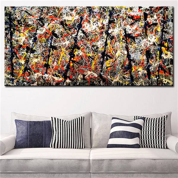 √Pollock S Number 11 Artwork Abstract Oil Painting Print Canvas Top ...