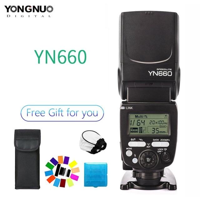 YONGNUO YN660 אלחוטי פלאש Speedlite GN66 2.4G אלחוטי רדיו מאסטר Slave עבור Canon Nikon Pentax אולימפוס YONGNUO YN 660
