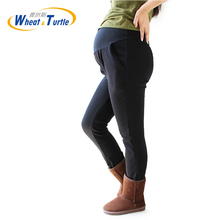 Maternity Warm Leggings XL XXL 3XL 4XL Velvet Cotton Black Winter Legging Pants For Pregnant Women Clothing Knitted Pregnancy