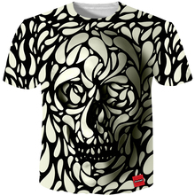 3D Men T shirt 2017 New Fashion Brand Men's Skull 3D Printed T shirt Plus  Size S-5XL Funny Print Men Clothes Camiseta Masculino