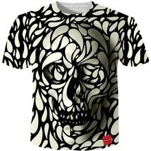 Men T shirt 2016 New Fashion Brand Mens Skull 3D Printed Plus  Size S-5XL Funny Print Clothes Camiseta Masculino