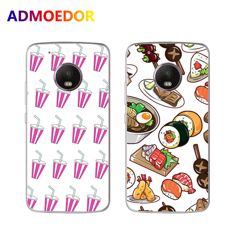 For for Motorola moto G5 case,Silicon Rich food Painting Soft TPU Back Cover for Motorola G5 plus Phone Protect Case shell