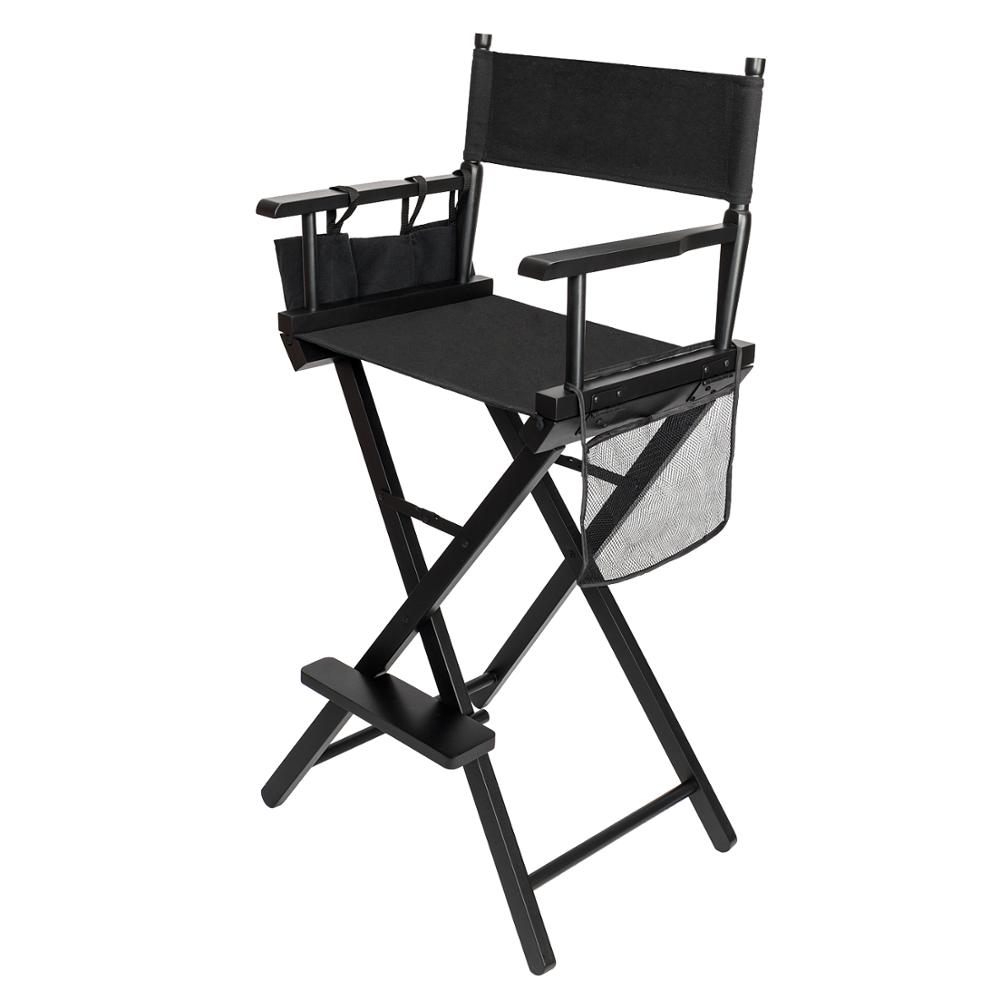 Terrific Directors Chair Canvas Tall Seat Black Wood Folding Hair Ncnpc Chair Design For Home Ncnpcorg