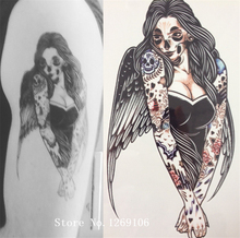 ARRIVAL 21 X 15 CM Zombie Girl Temporary Tattoo Stickers Temporary Body Art Waterproof#111