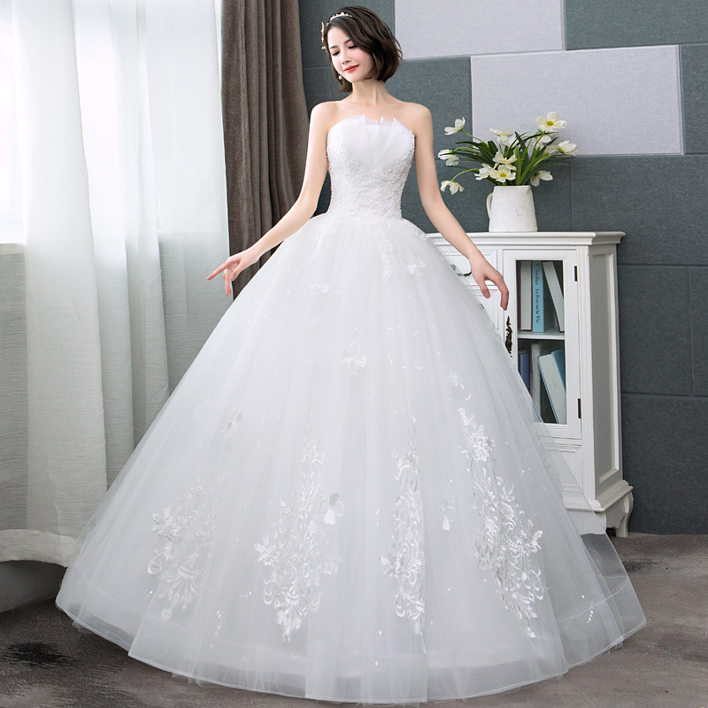 Ivory free shipping new hot Sweetheart Lace Embroidery ball gown lace up back formal bride dresses wedding dress