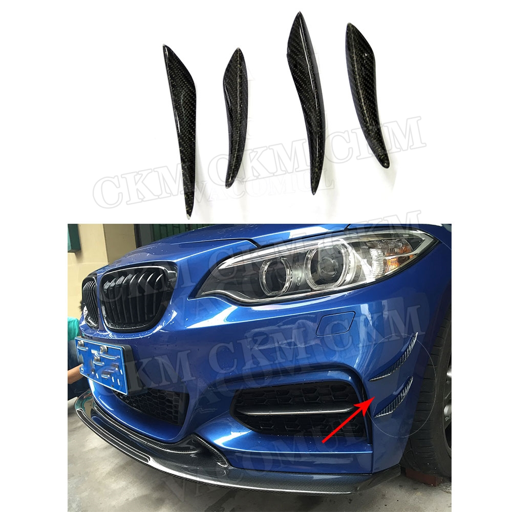 Front <font><b>Bumper</b></font> Side Canards Splitters Fin Spoiler Trunk Stickers Carbon Fiber for <font><b>BMW</b></font> E90 E92 E93 F30 F32 F36 <font><b>F10</b></font> G30 F06 F15 F16 image