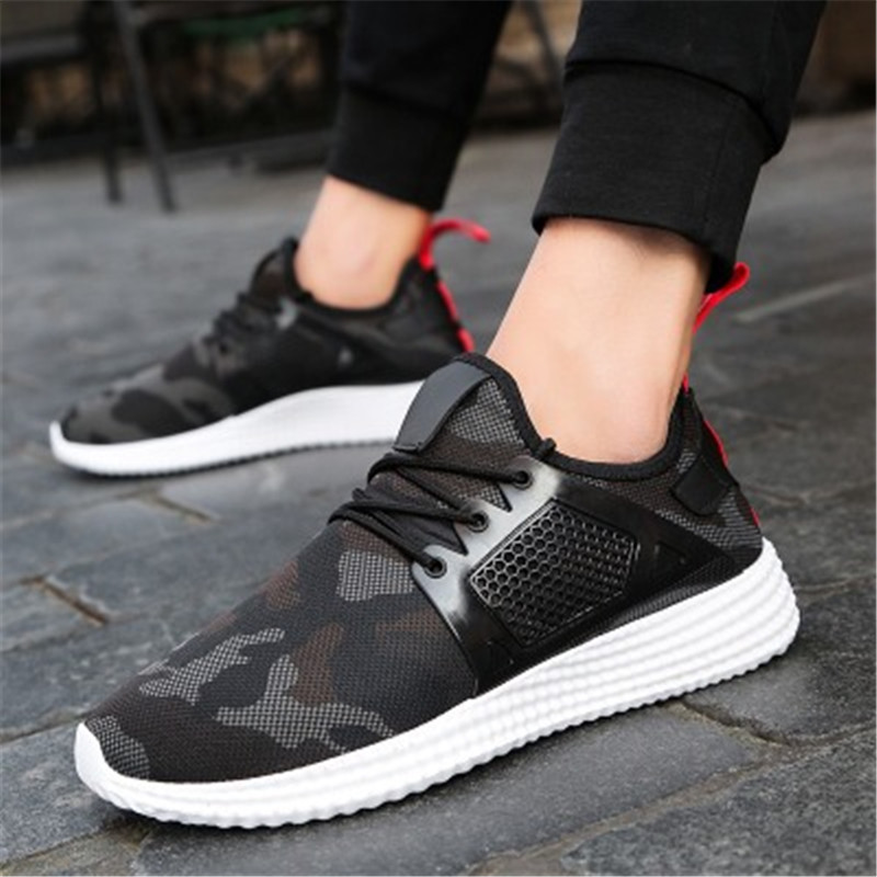 Outdoor Military Camouflage Walking Men sneaker Shoes 2017 summer Spring sport Army Green High Quality Non-slip running shoes