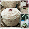 5mm 100 Meters Natural Cotton DIY Wall Hanging Plant Hanger Craft Making Knitting Cord Rope Natural